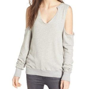 NWT Pam & Gela Cold Shoulder Sweatshirt Thumb hole